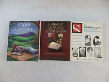 Lot of 3 READERS GUIDES NYT: Books of the Century Salon.com Book of Lists