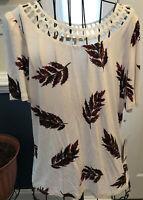 New Daniel Rainn Ladies Medium Blouse Top Women NWT M Shirt White Stitch Fix