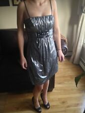 Jessica McClintock Charcoal Grey/Silver Coctail Dress Size 2