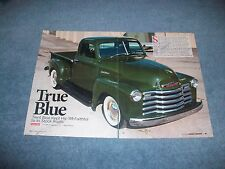 "1949 Chevy 3100 Pickup Resto-Rod Article ""True Blue"""
