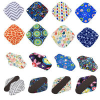 3 Size Bamboo Mama Cloth Menstrual Pads Reusable Waterproof Sanitary Panty Liner