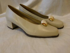EASY SPIRIT TAN LEATHER CLASSIC PUMP HEEL ON SLIP RESISTANT WOMENS SHOES 7M $149
