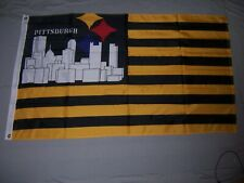 PITTSBURGH STEELERS CITY 3x5ft flag superior quality GENUINE NFL Lic us seller
