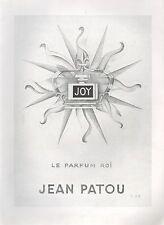 ▬► PUBLICITE ADVERTISING AD PARFUM PERFUME Parfum Roi JOY Jean PATOU Sue