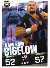 SLAM ATTAX<>BAM BAM BIGELOW<>TOPPS<>TRADING CARD<>wrestling