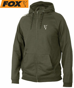Fox Collection Green/Silver LW Hoodie - Pullover, Angelbekleidung, Angelpullover