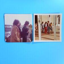 "2 Donny Osmond Vtg 70s Original Tour Photos Osmond Brothers 3.5"" Square"