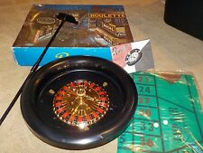 "Vintage Roulette Game In Original Box - 11"" Round w/ Mat Scraper & 2 Balls JAPAN"