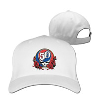 Unisex The Grateful Dead Jerry Garcia Adjustable Hat Baseball Cap - White