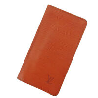 Louis Vuitton Wallet Purse Long Wallet Epi Brown Woman Authentic Used Y806