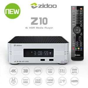 "Zidoo Z10 4K Android TV Box 2G 16G TV Box Android 7.1 NAS 3.5"" HDD Media Player"