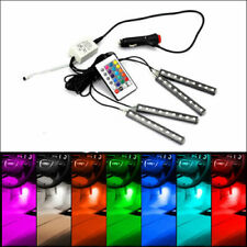4x 9LED Remote Control  RGB Interior Floor Atmosphere Light Strip  new