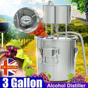3Gal 11L Moonshine Still Spirits Kit Water Alcohol Distiller DIY Home Brewing UK