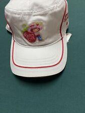NWT! Strawberry Shortcake girls White Red Stripe baseball cap hat from year 2003