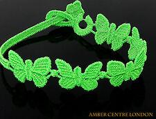 Italiano Fatto Cruciani bracciale - farfalla-libertà-fluorescente Verde