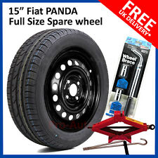 "15"" FIAT PANDA 2005-2018  FULL SIZE STEEL SPARE WHEEL & 185/55R15 TYRE  + TOOLS"