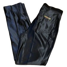 Vtg 70s 80s Black Stretch Shiny Punk Disco Skinny Womens Hot Pants Van Gogh 7/8