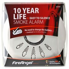 FIREANGEL LONGLIFE IONISATION SMOKE ALARM DETECTOR WITH SMART SILENCE