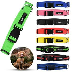 OneUP Pet Dog Cat Puppy Nylon Collar Adjustable Durable Small Medium Large
