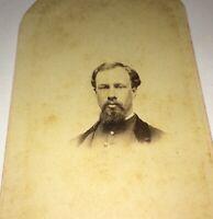 Rare Antique American Civil War Union Soldier, Uniform Jacket C.1861 CDV Photo!