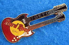 TOKYO JAPANESE VINTAGE RED SG GIBSON DOUBLE NECK GUITAR Hard Rock Cafe PIN