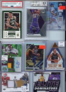 HUGE PREMIUM PATCH GRADED AUTO JERSEY ROOKIE INSERT  SPORTS CARD COLLECTION LOT
