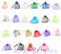 100/300/500/1000 7x9cm Premium Packaging Organza Wedding Gift Bags&Pouches Candy