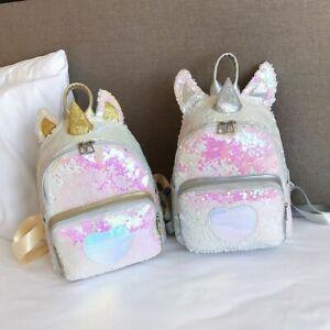 Unicorn Glitter Bling Backpack Women Girls Shoulder Bag School Daypack Fashion