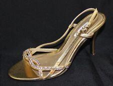 Alfani women's sandals high shoes gold rhinestone strap size 6.5 M