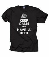 Keep Calm And Have A Beer T-Shirt Funny Alcohol Tee Pub Shirt Bartender Tee