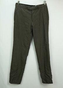NWT Hugo Boss Men's Flat Front Dress Pants Brown Size 33 x 33