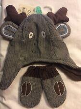 BabyReindeer Hat & Mitts Two-Piece Set by George, 0-3 months New