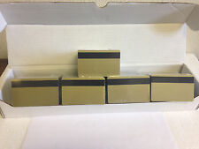 500 Gold PVC Cards - HiCo Mag Stripe 3 Track - CR80 .30 Mil for ID Printers