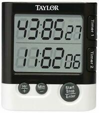 Taylor Classic Dual Event Digital Timer & Clock for Kitchen