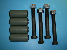 """LAND ROVER SERIES 88"""" REAR ROAD SPRING SHACKLE PINS, NYLOC NUTS & BUSHES (4)"""