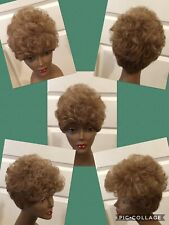 Short Curly Synthetic Wig Light Auburn Lightweight Size Average CLEAN (D-BSC)