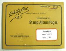 WHITE ACE - MONACO   PAGES PART 3 - 1990 / 1995    NEW     #WA-MONP3