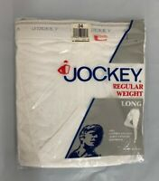 Vintage Jockey Long Underwear Regular Weight Cotton White 34 1202