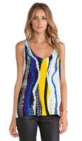 Diane Von Furstenberg DVF Multi Color Sequin Sleeveless Silk Jackie Blouse S