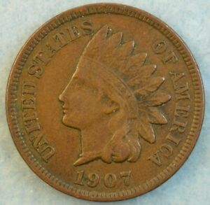 1907 Indian Head Cent Penny Very Nice Old Coin Fast S&H 427