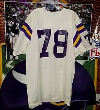 STEVE RILEY #78 MINNESOTA VIKINGS GAME USED ROAD WHITE JERSEY 1970'S