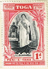 Toga Tonga Queen Salote stamp 1938 MLH