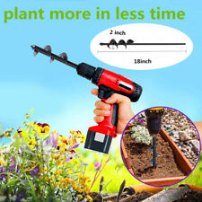 "Garden Plant Flower Auger Drill Bit 2"" x 18"" Rapid Planter For 3/8"" Hex Drive"