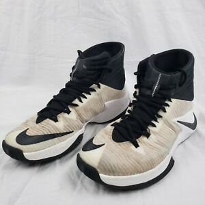 Nike Zoom Clearout (844372-001) Black/White Basketball Shoes Mens Size 8.5