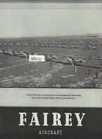 FAIREY AVIATION CO ENGLAND 1935 BELGIAN AIR FORCE AT EVERE AIR DISPLAY AD