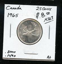 1965 Canada 25 Cents GEM UNC AB176