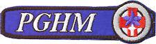 Gendarmerie, PGHM (Secours en Montagne) fleur bleue, en tissu (TS120)