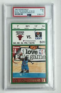 12/28/96 Chicago Bulls Cav Michael Jordan ASG Uniform Dunk Photo PSA Ticket Stub