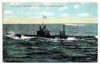 1912 The Lake, Lake Submarine Boat Co. Bridgeport, CT Postcard *5W5