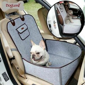 Dog Car Seat Carrier Waterproof Frontseat Travel Breathable Anti Slip Protector